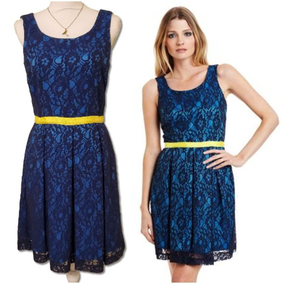 "Miss Sixty Dresses & Skirts - M60 MISS SIXTY ""Willa"" Lace Overlay Blue Dress"